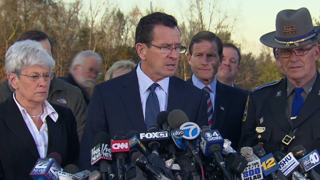 Gov. Malloy: Tragedy of unspeakable terms