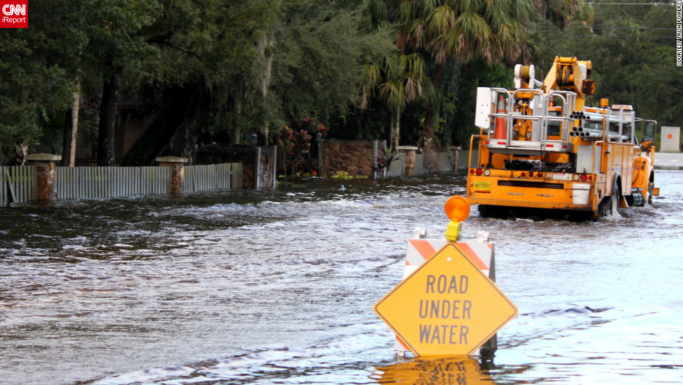 "Hurricane Isaac brought flooding to the streets of <a href=""http://ireport.cnn.com/docs/DOC-833998"">Fort Pierce, Florida</a> in August. Trish Powers described the water as ""waist deep"" at times. See more Isaac images <a href=""http://ireport.cnn.com/open-story.jspa?openStoryID=834126"">here</a>."