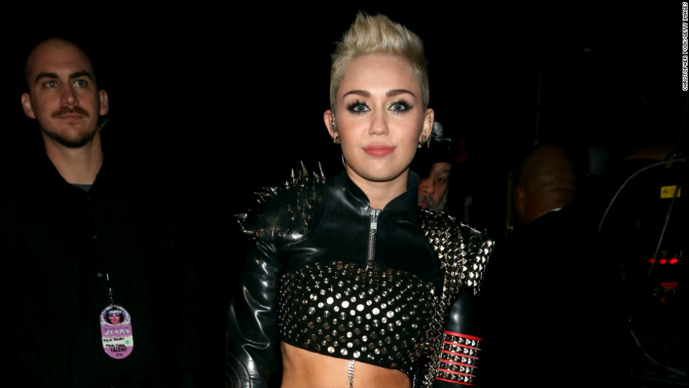 Miley Cyrus attends VH1 DIVAS where she crowd surfed during her performance.