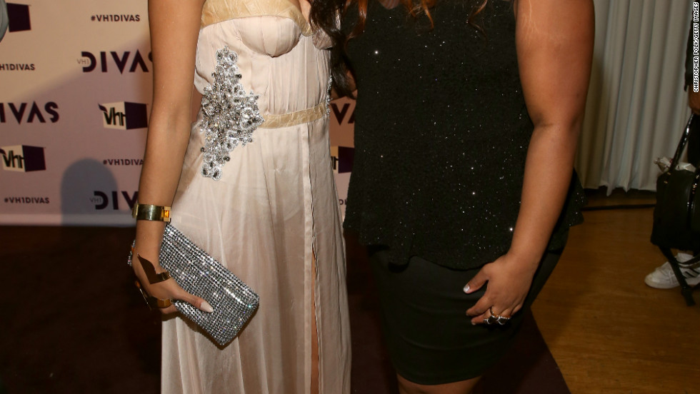 Kat Graham and Amber Riley attend VH1 DIVAS.