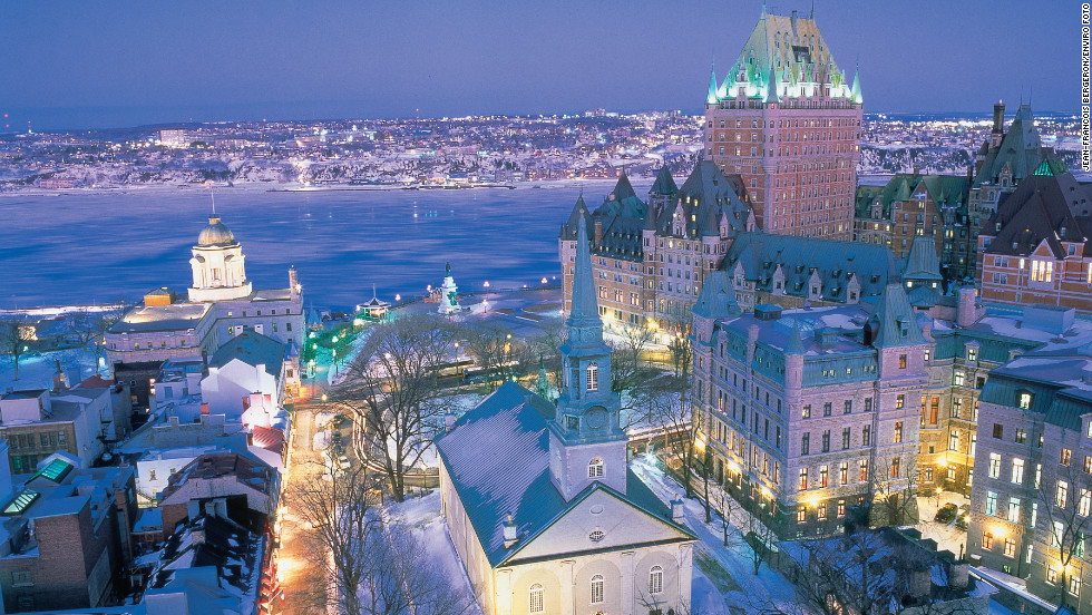 Quebec City's gabled roofs, winding streets and ramparts conjure an Old World feel. Vieux-Quebec (Old Town) is the only fortified city in North America north of Mexico.