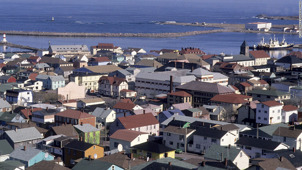 The rocky islands of Saint-Pierre and Miquelon, some 15 miles off the coast of Newfoundland, are part of France.
