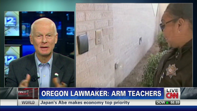 Oregon lawmaker: Time to arm teachers
