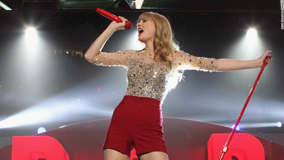"Taylor Swift's ""Red"" sold more than a million copies its first week, and her song ""We Are Never Ever Getting Back Together"" became Swift's first No. 1 pop hit."