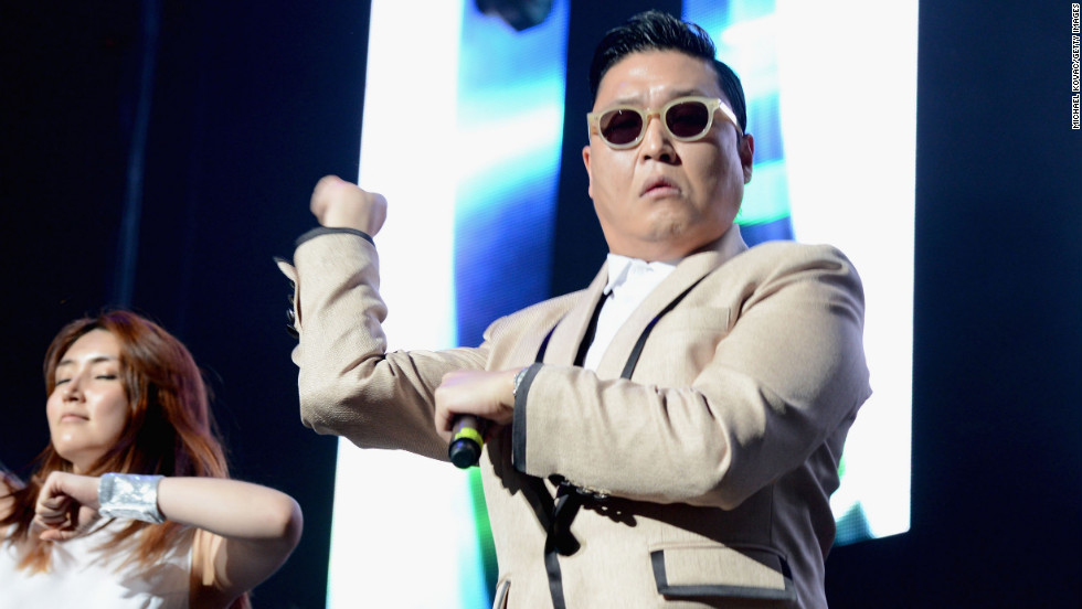 "Korean pop singer PSY's song ""Gangnam Style"" became an international sensation."