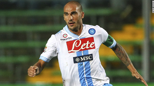 Napoli captain Paolo Cannavaro has played for the club since 2006.