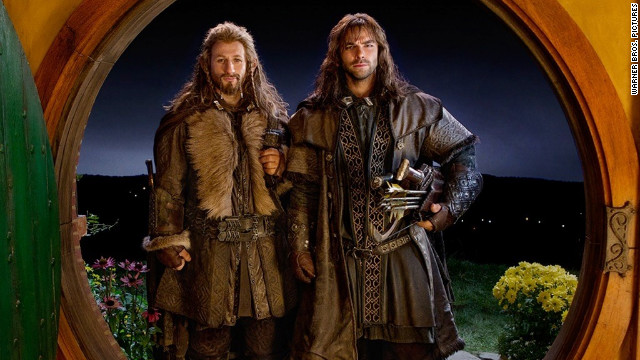 "Dean O'Gorman, left, and Aidan Turner are among the dwarves in ""The Hobbit: An Unexpected Journey."""
