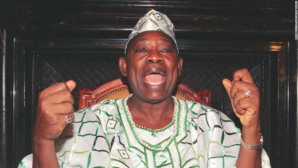 Politician and philanthropist MKO Abiola won almost 60% of the 1993 vote. But Nigeria's ruling junta annulled the election and in 1994 arrested Abiola on a charge of treason.
