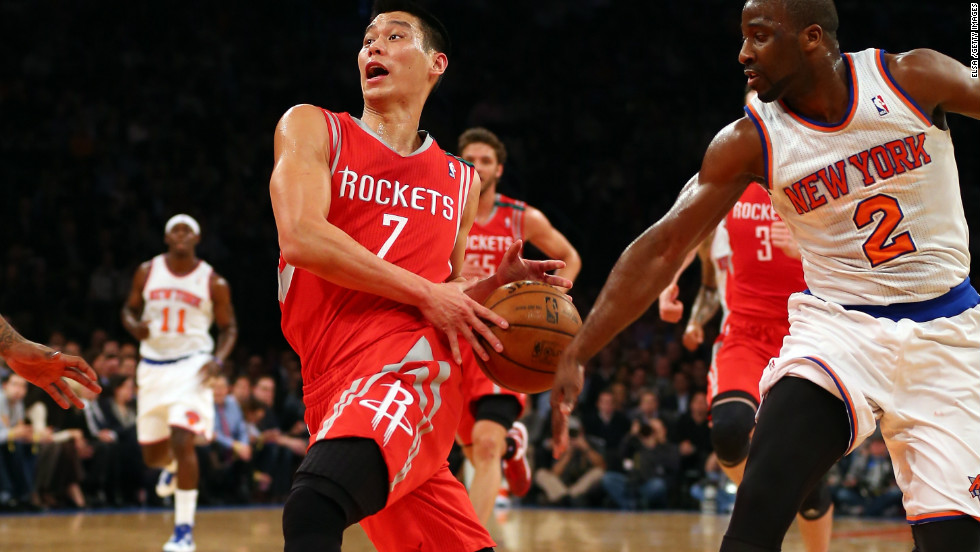 "<strong>Highest trending athlete: Jeremy Lin: </strong>Houston Rockets star Jeremy Lin was Google's highest trending athlete of the year. Lin, one of a very few Asian Americans in the NBA, was virtually unknown before he burst on to the New York Knicks side early in 2012. ""Linsanity,"" the name given to the fervor surrounding him, was the 10th most used meme on Facebook in the U.S this year."
