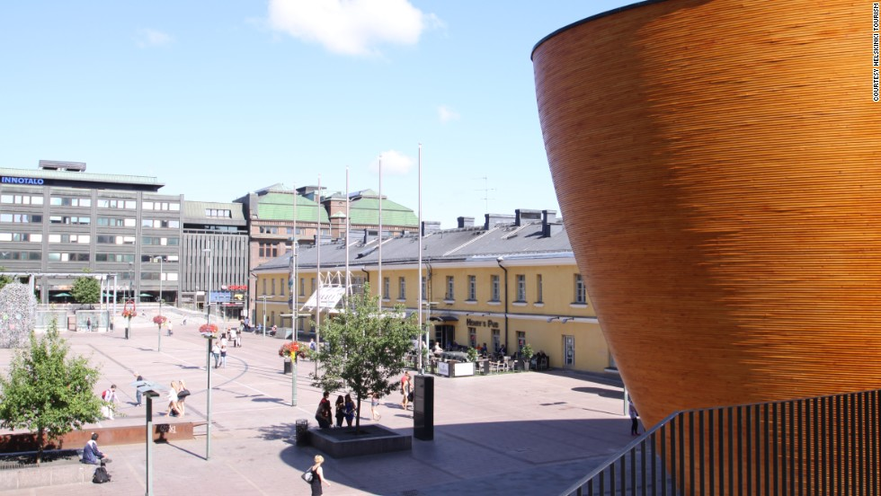 In Helsinki's Narinkka Square, the freshly minted Kamppi Chapel of Silence resembles a wooden egg, dressed in fir and with a halo-shaped skylight beneath which you can sneak a moment of quiet contemplation.
