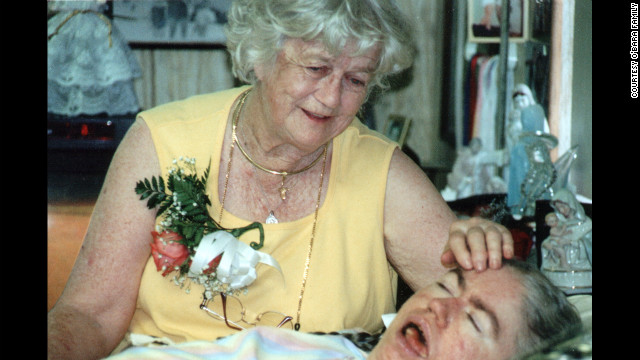 Kathryn O'Bara with her daughter Edwarda in 2002. After Kathryn died in 2008, Colleen took over caring for her sister.