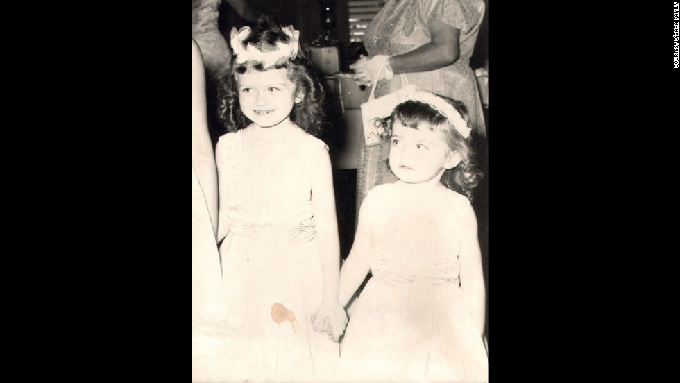 "Edwarda and her younger sister Colleen in 1960 -- nine years before Edwarda would fall into a coma. Her cousin Pam Burdgick went to college in South Florida in the 1960s and remembered Edwarda as ""a sweet, loving child."""