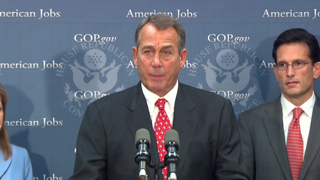 Boehner's fiscal cliff Plan B