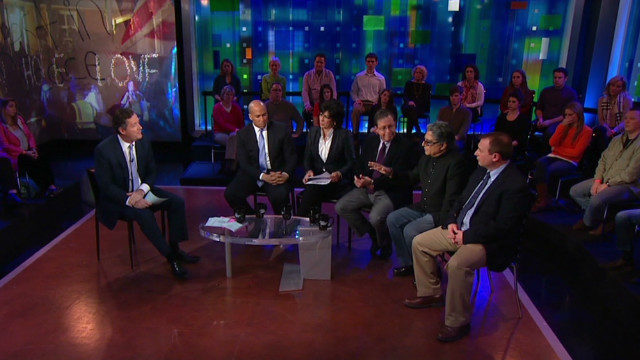 Piers Morgan and others debate gun violence