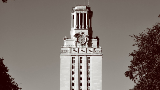 1966: Univ. of Texas clock tower