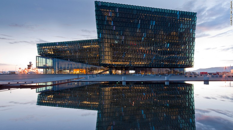 Harpa, a combo concert hall and convention center, in Reykjavik, Iceland.