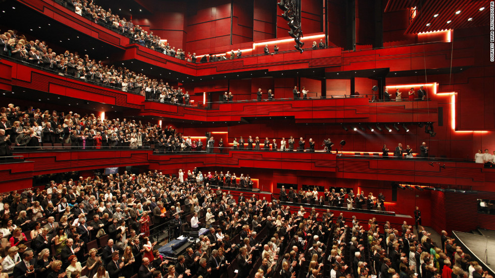 Each of Harpa's four concert halls has a large overhead reflector system and acoustics control chambers, all of which are intended to produce a superior sound.