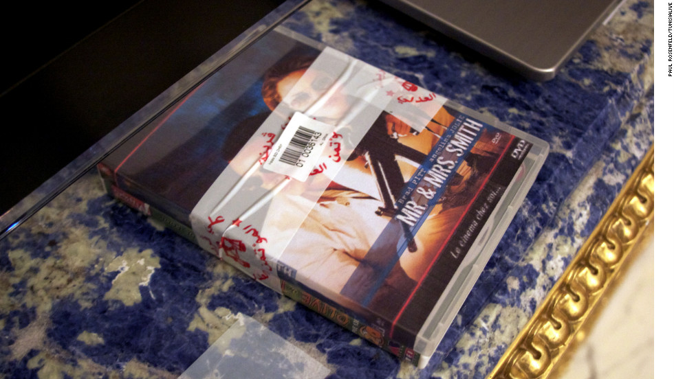 "The president's belongings lie where they were left, such as this DVD of the Hollywood film ""Mr & Mrs Smith"" starring Brad Pitt and Angelina Jolie. Tunisian journalist Youssef Gaigi said: ""It was very interesting because you enter into the private life of a president and discover a human side which we didn't have access to -- didn't actually didn't think he had. We thought he was either superhuman or a tyrant."""