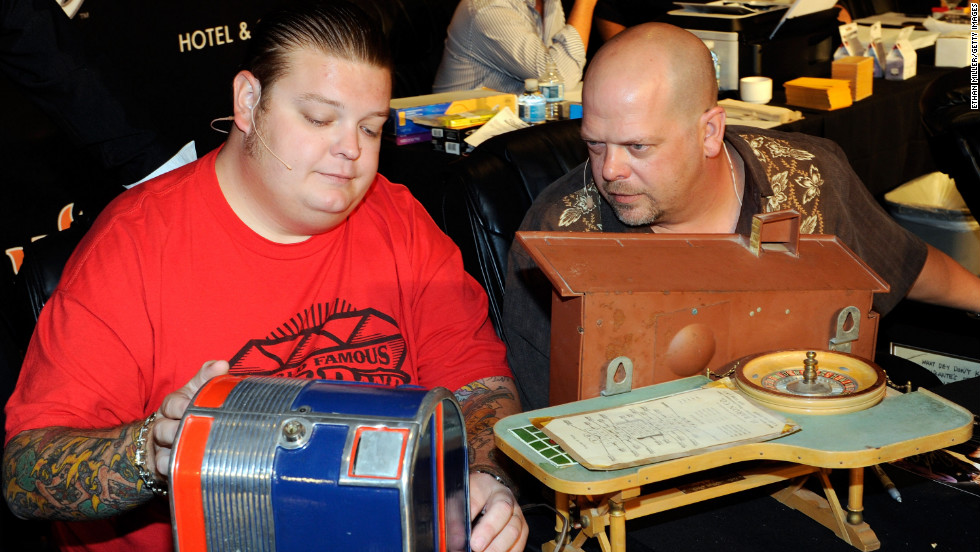 "History's ""Pawn Stars,"" starring Corey Harrison, Rick Harrison and Richard Harrison, has been on the air for six seasons."