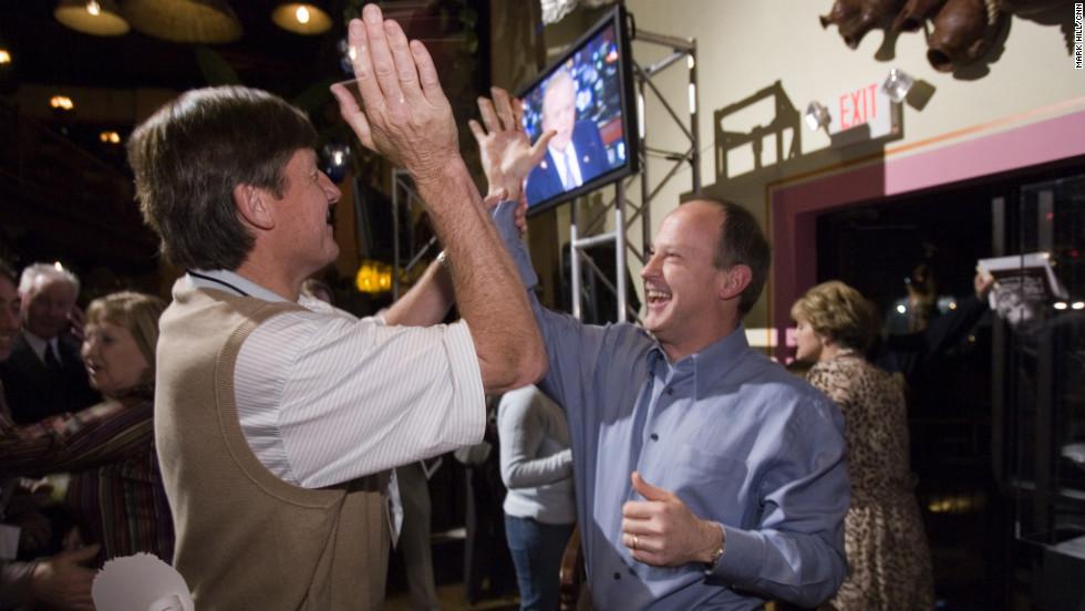 Craig Sager and Walton share a moment at CNN's 25th anniversary celebration.