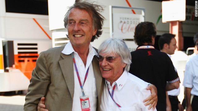Luca Di Montezemolo and Bernie Ecclestone share a moment but the Ferrari chief wants a change of direction in the sport