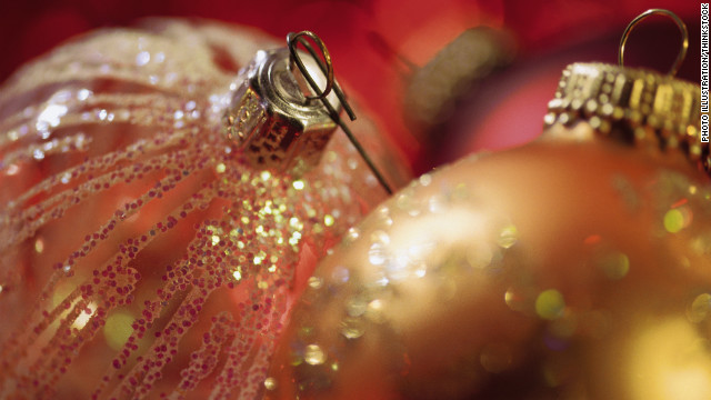 An all-out, no-holds-barred glitter explosion can enhance decorations for Christmas and other holidays.