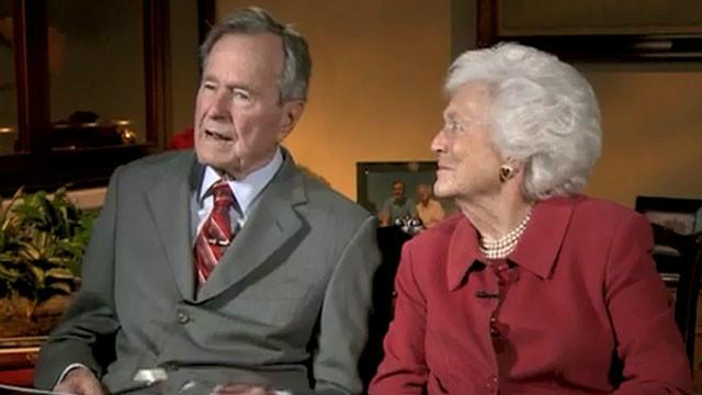 2011: Barbara Bush teases husband