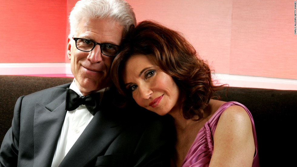 Danson and Steenburgen pose backstage during the seventh annual Costume Guild Awards in 2005.