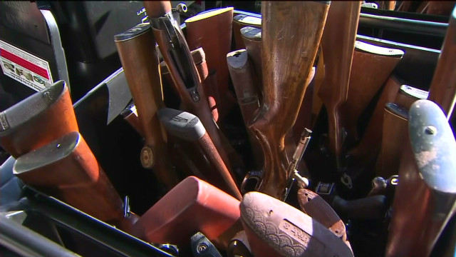 L.A. residents trade guns for groceries