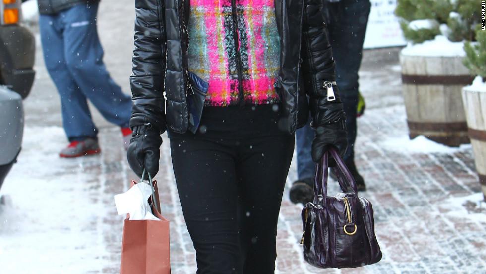 Lori Loughlin goes shopping in Aspen, Colorado.