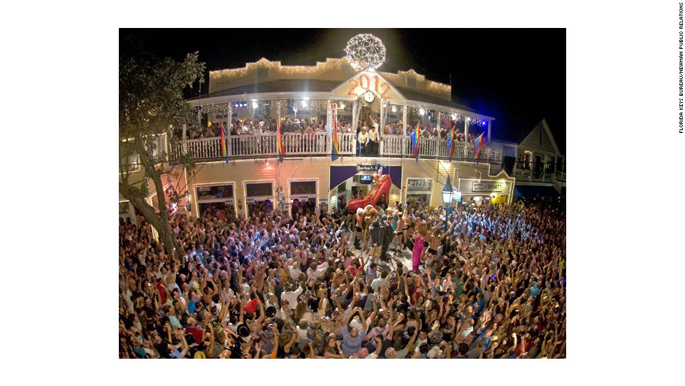 The shoe drop festivities were once the place for Key West's gay community to ring in the new year. Today, the crowd is a mixture of tourists and locals from every walk of life.