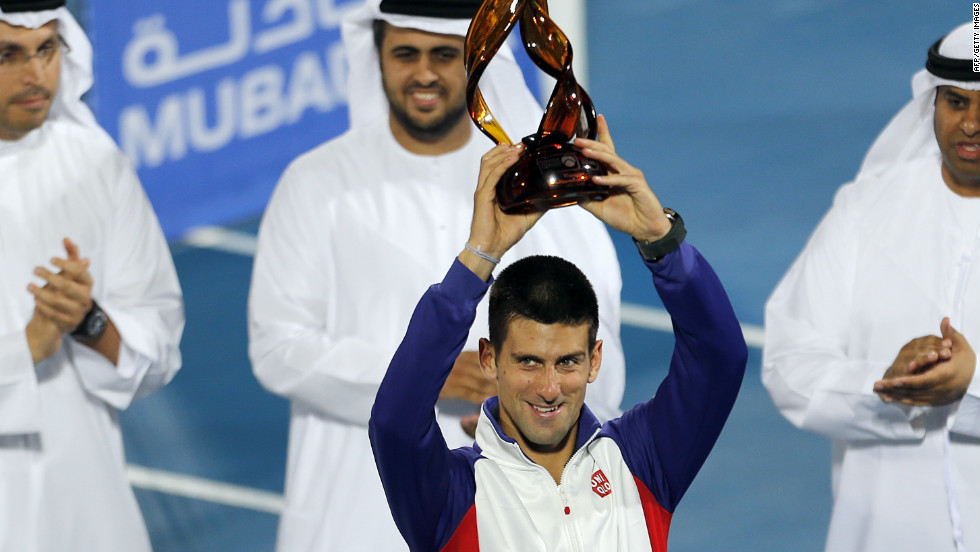 Top-ranked Djokovic showed he is in fine form by earlier winning the big-money exhibition tournament in Abu Dhabi and then reaching the final of the Hopman Cup teams event with fellow Serbian Ana Ivanovic.
