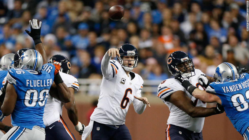 "The enigmatic Cutler (#6) is .500 lifetime as a starter (68-68), and has made the playoffs just once, in 2010. Since then the Bears have had just one winning season. ""Jay Cutler has gotten a lot of offensive coordinators fired, let's be honest,"" mused NFL analyst Marshall Faulk."