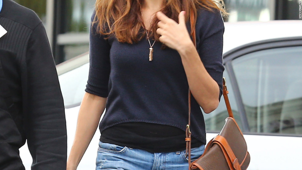 Eva Mendes does a grocery run in Los Feliz, California on December 30.