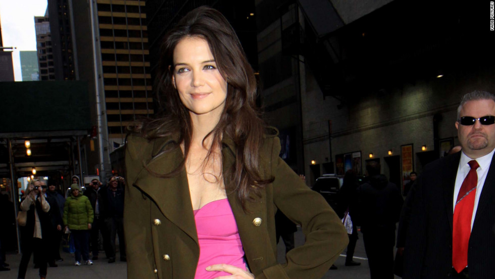 Katie Holmes steps out in New York on December 28.