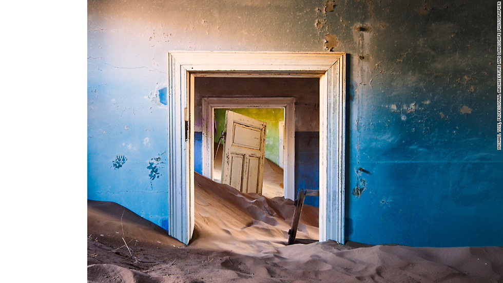 "Kolmanskop Diamond Camp in Skeleton Coast, Namibia. Bushmen considered Namibia's Skeleton Coast ""The Land God Made in Anger."""