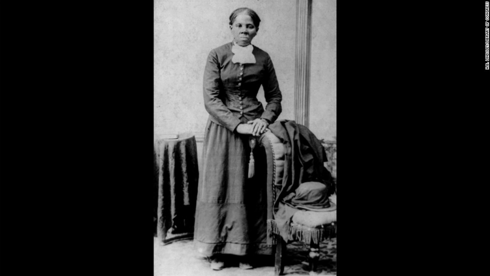 Abolitionist and slave rescuer Harriet Tubman is seen in the 1860s.