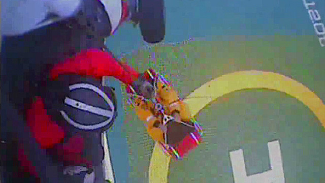 See Coast Guard rescue oil rig crew