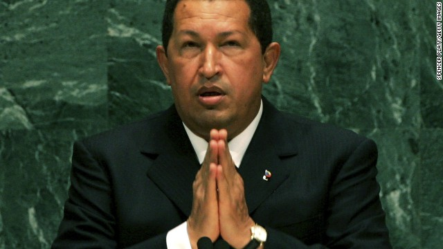 [File photo] Venezuelan President Hugo Chavez addresses the United Nations General Assembly September 20, 2006 at the UN in New York City.