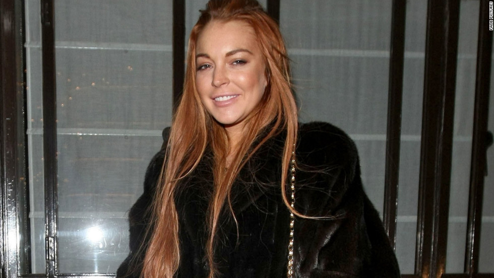Lindsay Lohan stops by Cipriani in London on December 30.