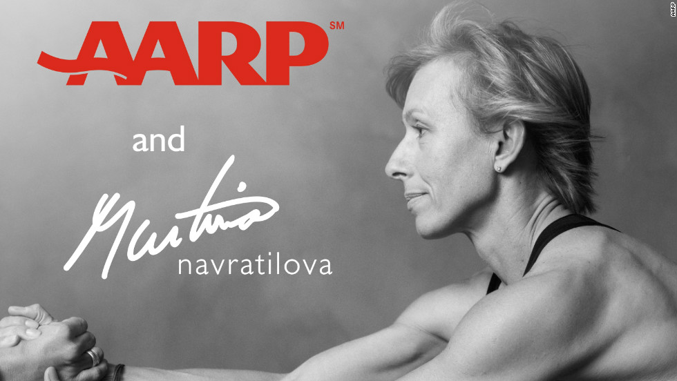 Tennis great Martina Navratilova works with AARP on a campaign to get people over 50 physically active.
