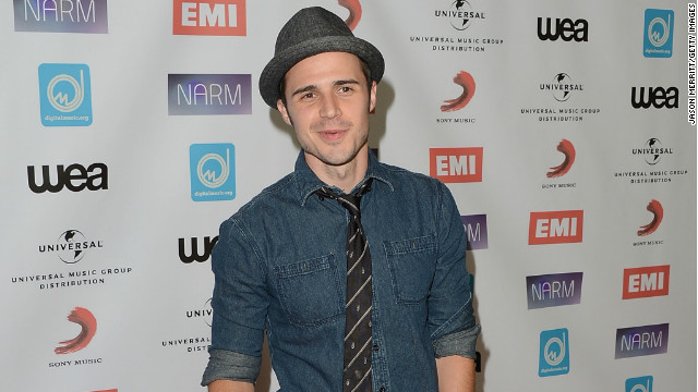 Kris Allen arrives at the NARM Music Biz Awards dinner party on May 10, 2012 in Century City, California.