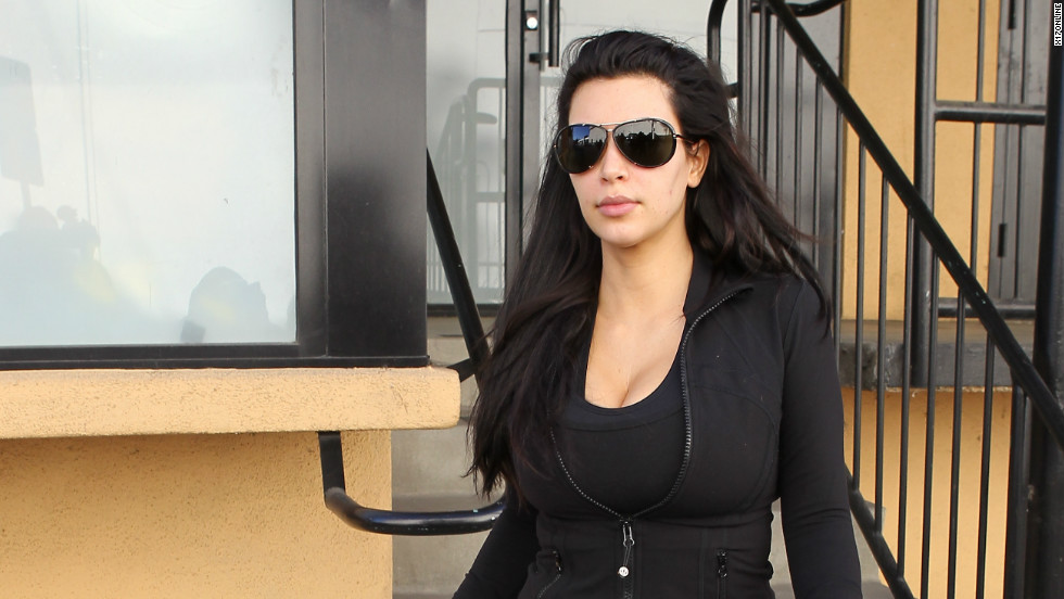 Mom-to-be Kim Kardashian is seen out in gym gear on January 2.