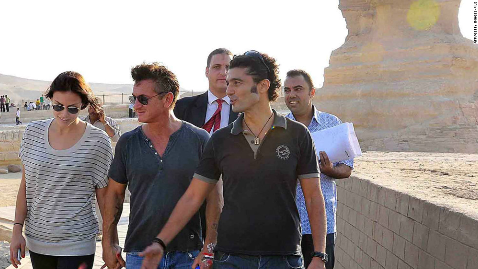 The actor-turned-activist took American film star Sean Penn to Egypt in 2011, where they toured the pyramids and also visited Tahrir Square in Cairo.