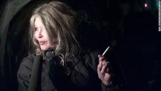 (File photo)  Animal rights activist Brigitte Bardot pictured here on February 28, 2001 in Romania.