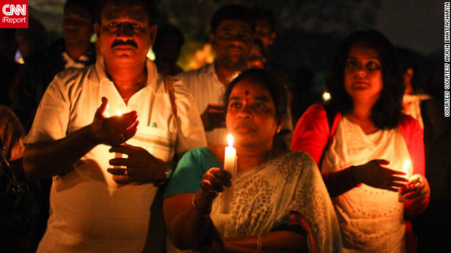 Thousands of protesters held vigils in Indian cities in memory of the unnamed victim.