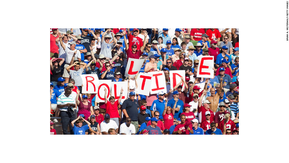 """""""Roll Tide,"""" the rally cry of Alabama, dates to 1907 and has been a part of the college football vernacular ever since."""