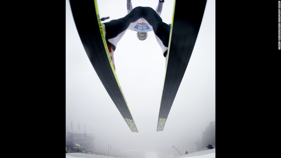 Lukas Hlava of the Czech Republic makes a jump on January 4.
