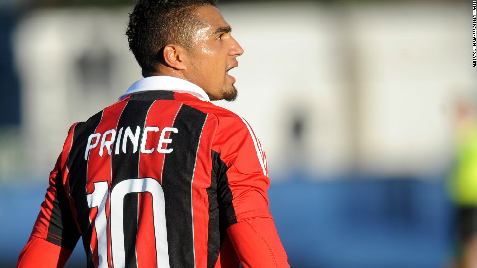 AC Milan's Kevin-Prince Boateng suffered abuse from fans friendly match against Pro Patria  in January 3, 2013. Boateng stormed off the pitch after being subjected to racist chants.