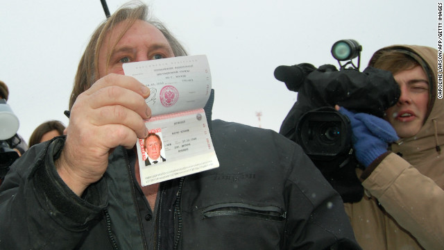 Gerard Depardieu welcomed in Russia